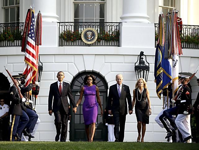 Barack Obama, Michelle Obama, Joe Biden, Jill Biden...President