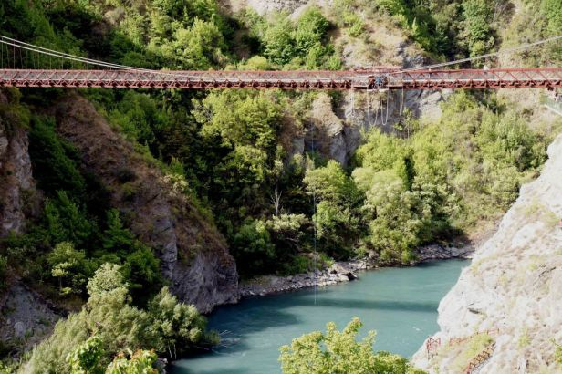 Kawarau Gorge Suspension Bridge, New Zealand